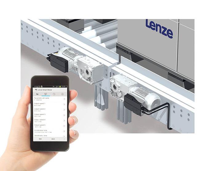 Lenze开箱即用的智能产品,用于开始停止传送带的应用